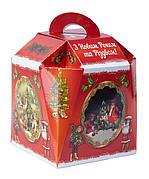 Картонная упаковка для конфет, Звоночек Ретро большойна вес до 1000г, от 1 штуки