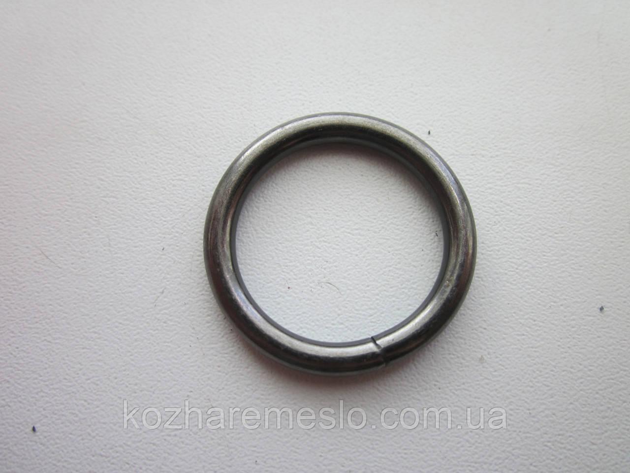 Кольцо проволочное 4  х 25 мм тёмный никель
