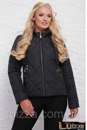 Молодежная утепленная куртка 42-48 рр черная, фото 2