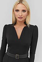 Женское приталенное платье по фигуре черного цвета (Igos crd), фото 2