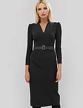 Женское приталенное платье по фигуре черного цвета (Igos crd), фото 3