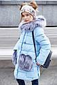 """Зимнее пальто """"Полианна"""" Nui Very c накладными меховыми карманами Размеры 116- 158, фото 2"""
