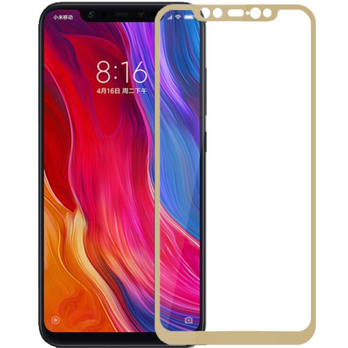 Защитное стекло 3D Gold для Xiaomi Mi 8