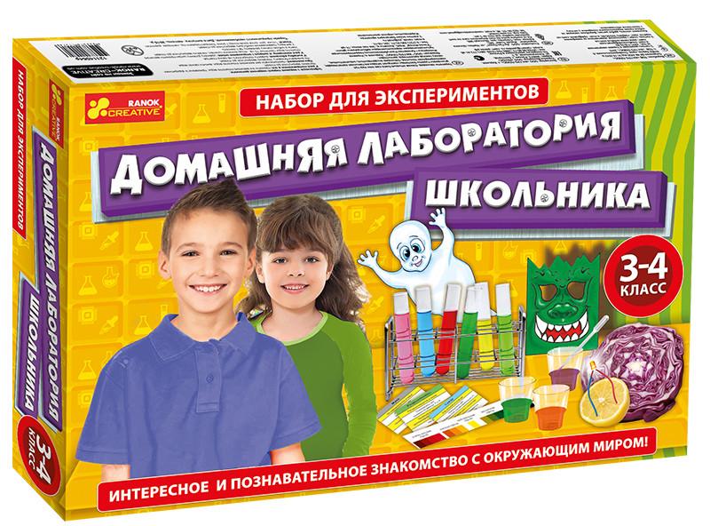 Набор для опытов Ranok-Creative (12114064Р)  Домашняя лаборатория школьника 3-4 класс 9782