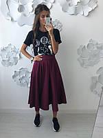 Женская шикарная юбка солнце (2 цвета), фото 1