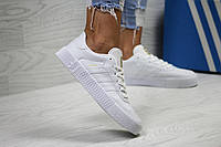 Кроссовки женские Adidas Samba белые (Реплика  ААА+), фото 1