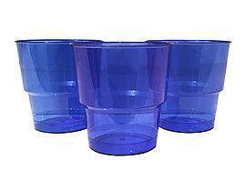 Стакан стеклоподобный  200 гр синий  10 шт