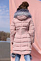 Пальто детское пуховик на девочку Кина - Пудра №721, фото 3