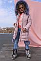 Пальто детское пуховик на девочку Кина - Пудра №721, фото 4