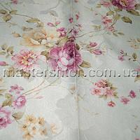 Шторы+тюль Мелкая Роза 1369 DECORAL collection
