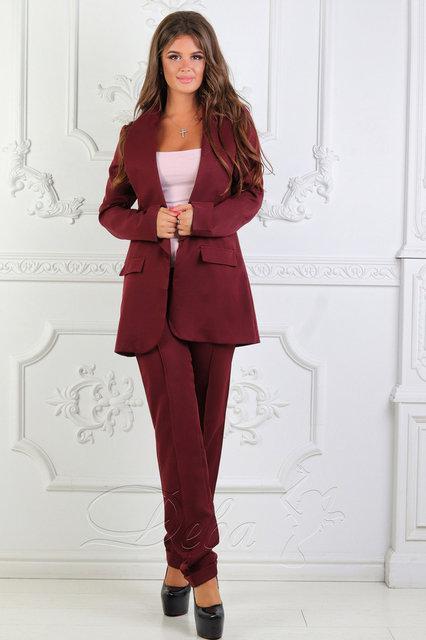 2ab220e56de Купить Деловой женский брючный костюм двойка батал (К24010)  ...  в ...
