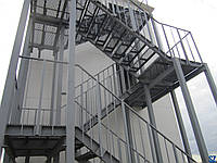 Лестницы, площадки, стремянки и ограждения стал. для произв. зданий Серия 1.450.3-7.94
