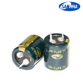 82mkf - 400v  HC 22*30  SAMWHA, 85°C конденсатор електролітичний