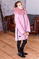 Зимнее стеганое пальто для девочки