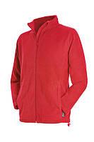 Флисовая кофта мужская красная на молнии Stedman - 02101