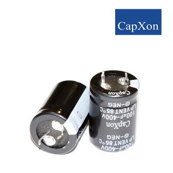 100mkf - 400v   LP 22*30  Capxon, 85°C конденсатор електролітичний