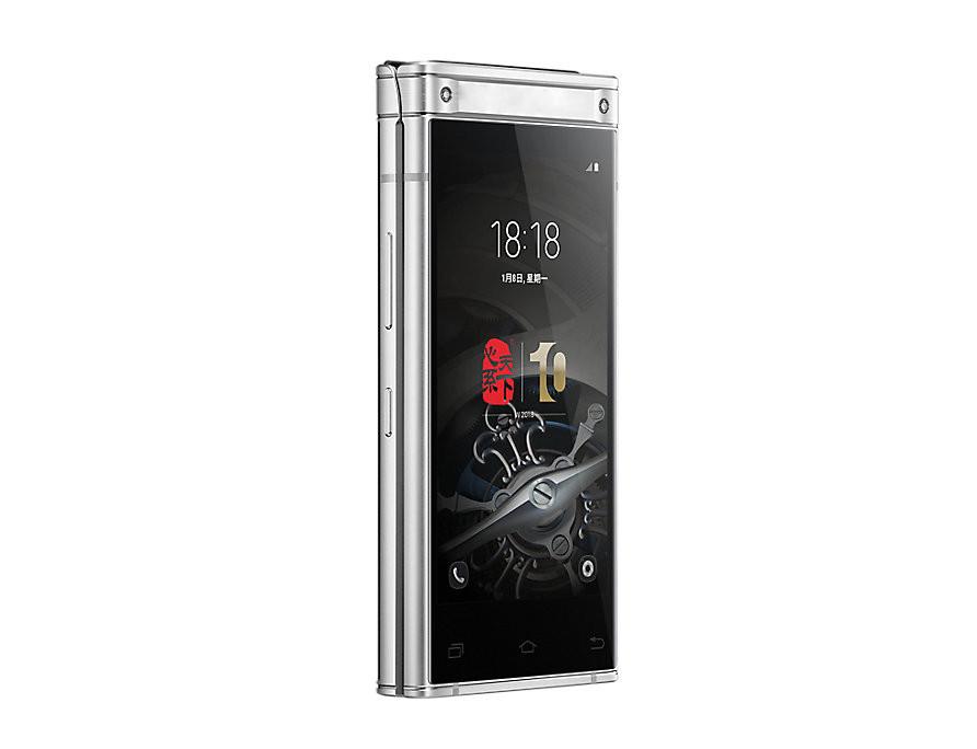 Раскладной смартфон Tkexun W2018 silver
