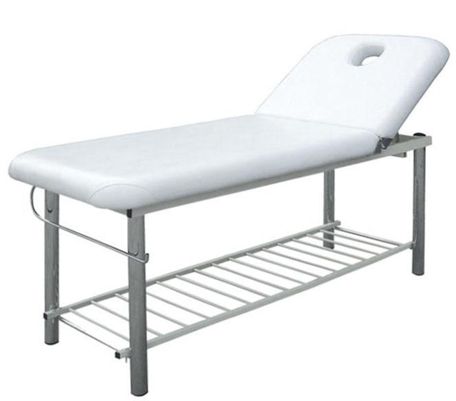 Массажный стол - Кушетка для наращивания ресниц стационарный BS- 219 с креплением для рулона простыней
