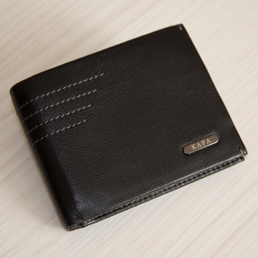 Кошелек с зажимом мужской кожаный Kafa 555-8m черный