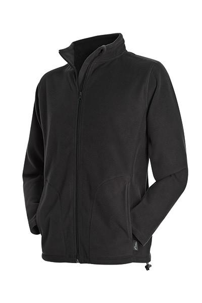 Флисовая кофта мужская черная на молнии Stedman - Black СТ5030