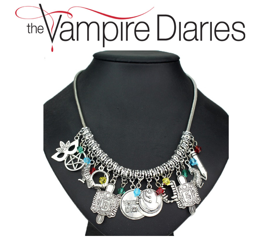 Колье Дневники Вампира с подвесками Vampire Diaries