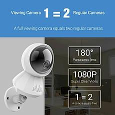 Беспроводная IP камера панорамная H.VIEW VR180 2МП WiFi, ночная съемка, датчик движения, фото 2