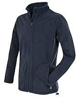Флисовая кофта мужская темно-синяя на молнии Stedman - 02104