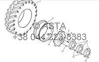Колесо (Задний Привод) на YTO X1304, фото 1