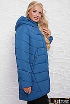 Женская куртка свободного кроя 50-58 рр темно синий, фото 2