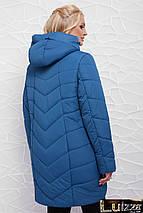 Женская химняя куртка  50-58 рр лиловый, фото 2