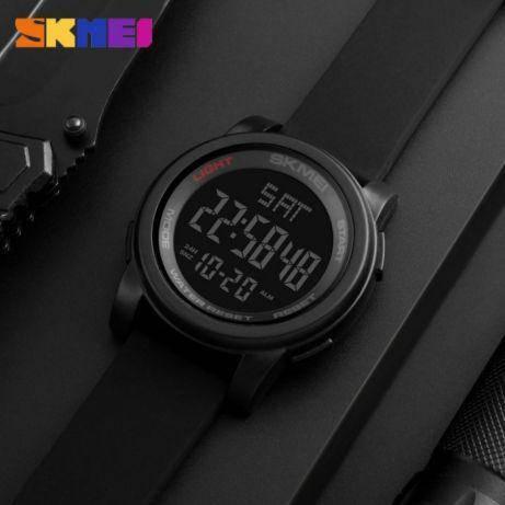 • Оригинал! Skmei(Скмей) 1257 Army Black | Cпортивные мужские часы !