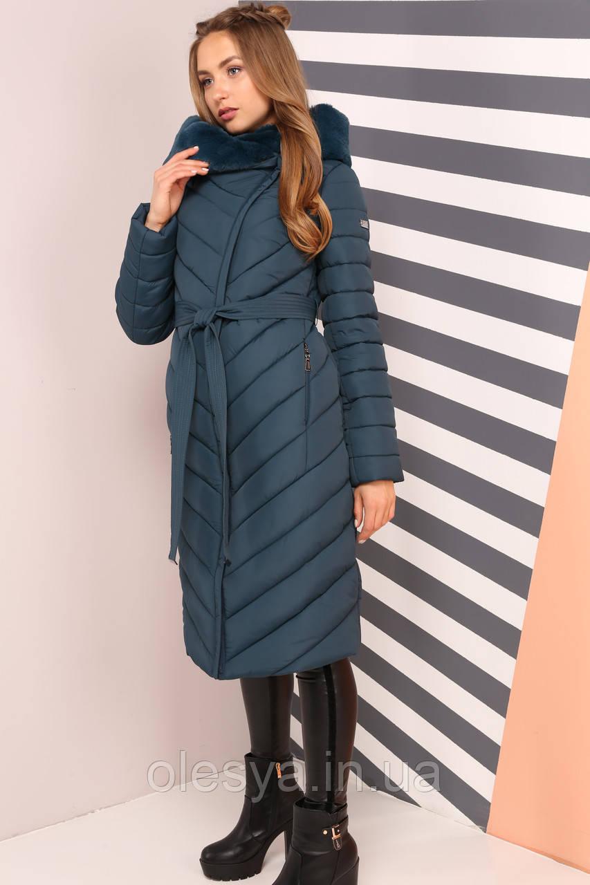Пальто Фелиция 2 - изумруд размеры 54 56 60