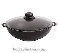 Сковорода WOK Биол 32 см с крышкой, фото 1