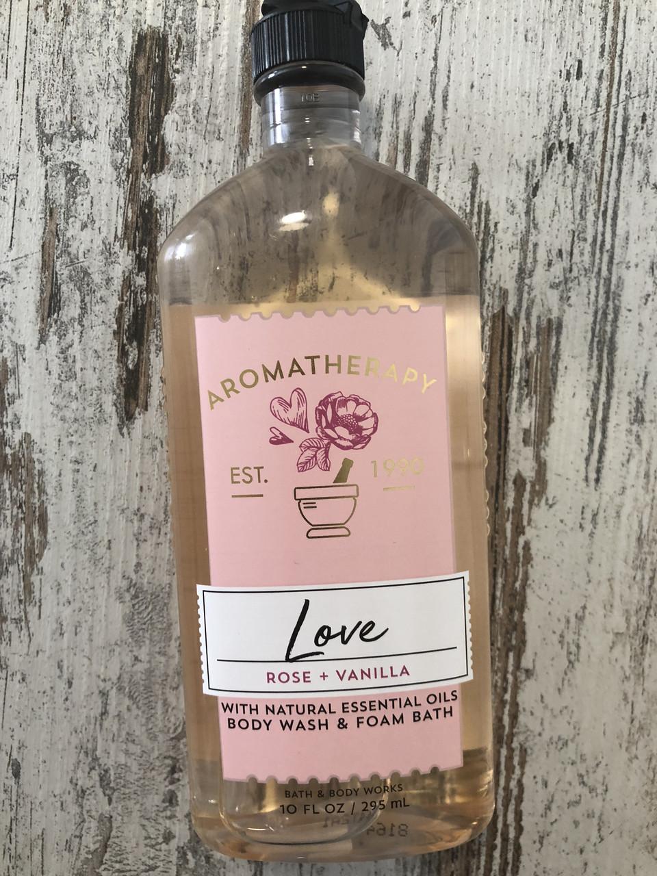 Гель для душа и пена для ванной Bath and Body Works Роза и Ваниль