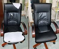 Кресло для руководителя на деревянной основе