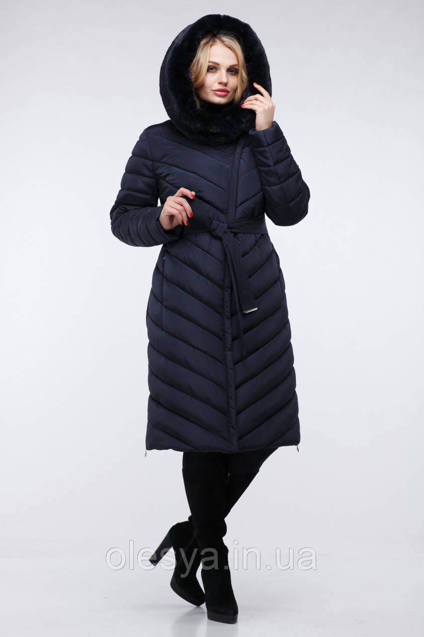 Пальто Фелиция 2 - Т.синий  размеры 54 56 60