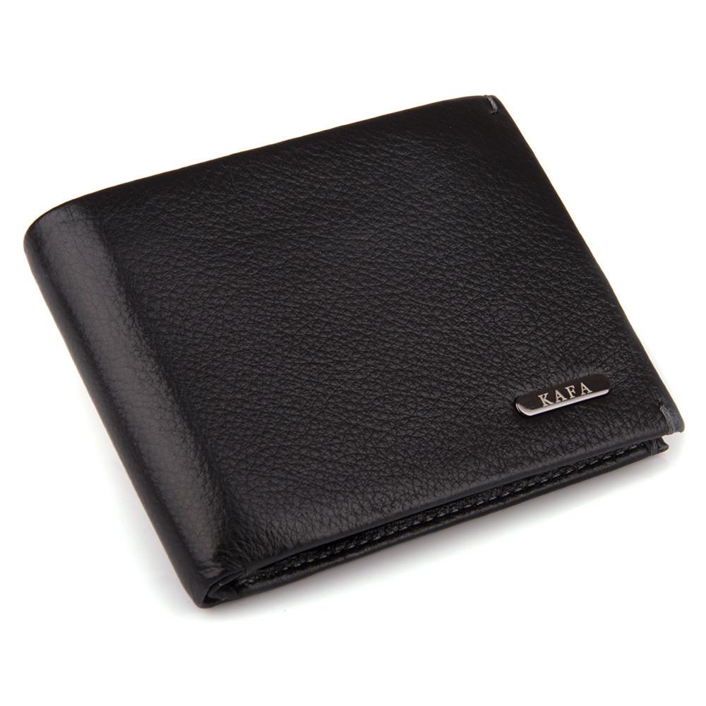 Кошелек с зажимом мужской кожаный Kafa 555-15m черный