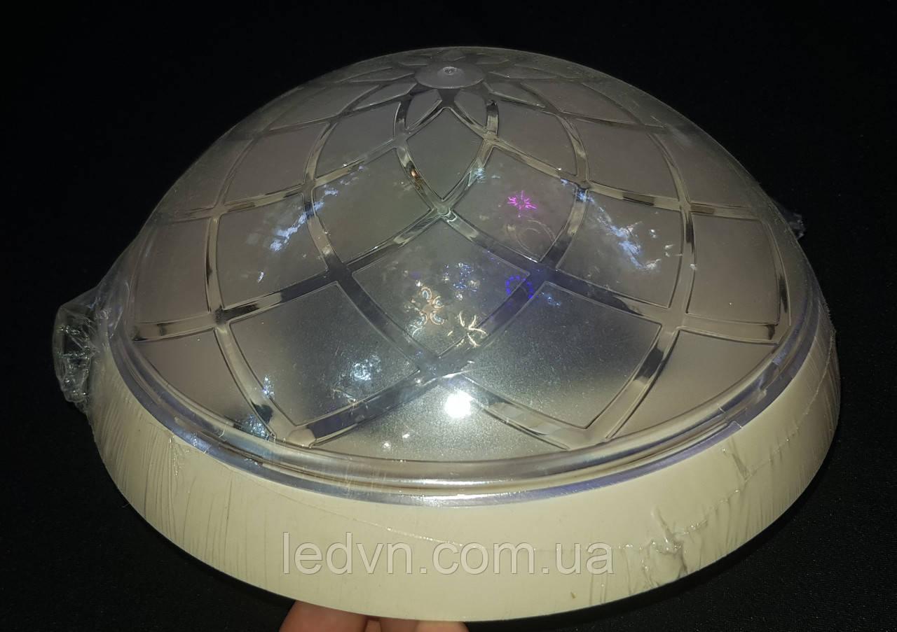 Настенно - потолочный светильник круглый бежевый на одну лампочку