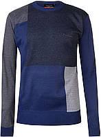 Свитер мужской Pierre Cardin Темно-синий квадрат, XL, фото 1