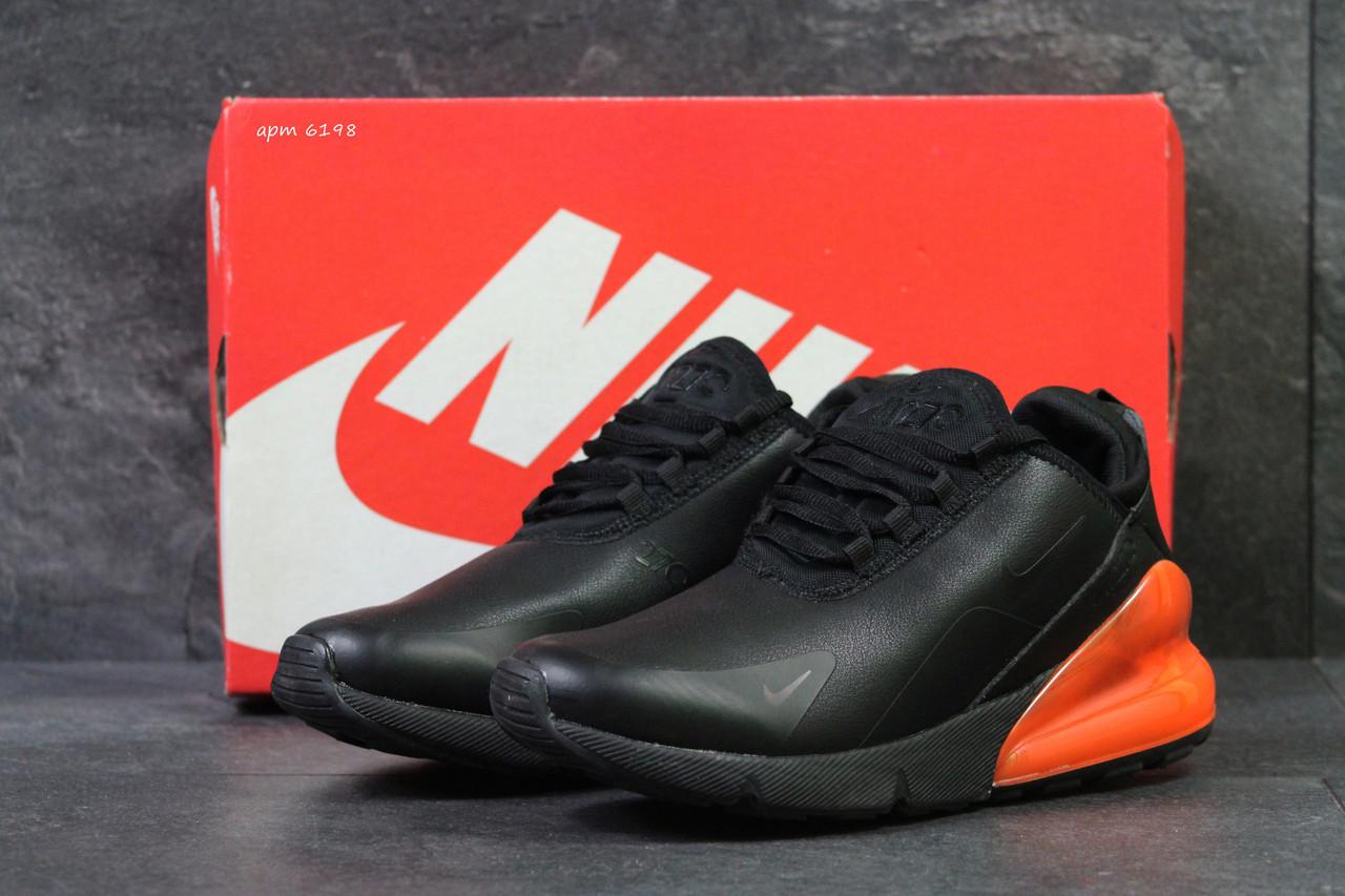 e383fd46 Осенние мужские кроссовки Nike Air Max 270, кожаные, черные(Реплика) -  Интернет