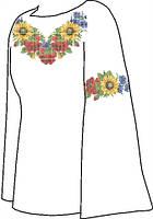 Заготовка женской вышиванки бисером на льне СВЖБ-28