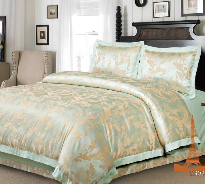 Комплект постельного белья Евро Жаккард 200Х220 2-14 TH0857
