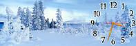 """Красивые часы-картина """"Зима"""" 30х90 см оригинальный подарок"""