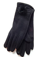 Сенсорные женские перчатки трикотаж/тонкий флис оптом, фото 1