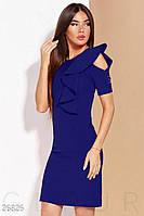 Оригинальное деловое платье цвета синий электрик