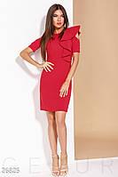 Стильное деловое платье красного цвета