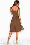 Женский коричневый сарафан в деловом стиле, фото 3