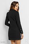 Черное платье-пиджак двубортного кроя, фото 3