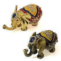Шкатулка статуэтка со стразами Слон