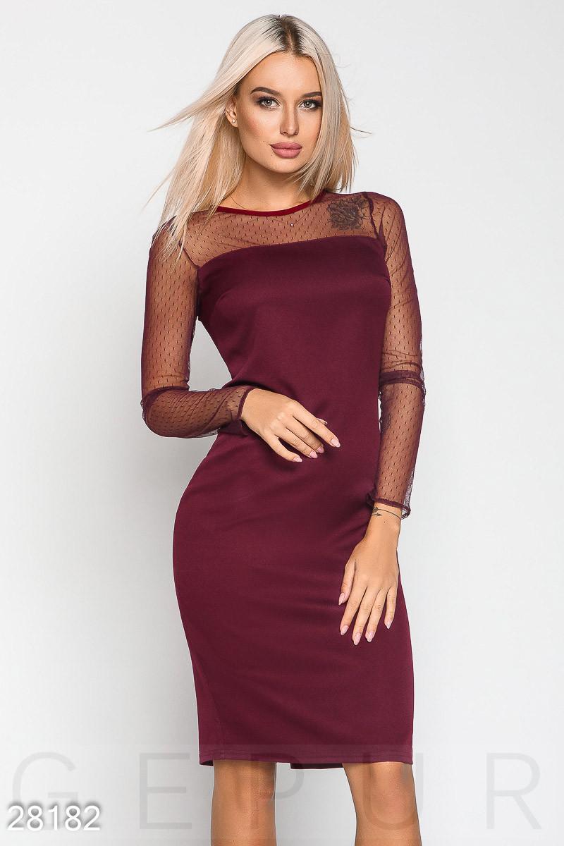 480472488cf Элегантное Офисное Платье Цвета Марсала — в Категории
